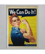 Rosie The Riveter WWII Propaganda Dictionary Page Art Print - $11.00