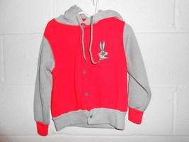 Vintage 80s Looney Tunes Bugs Bunny Zip Up Hooded Youth Sweatshirt - $14.99