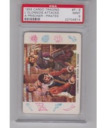1958 CARD-O TRADING CARDS #P-8 L'OLONNOIS ATTACKS POP 9 PSA 9 MINT - $13.46