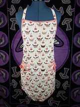 Cute Women's Cupcake Cooking Apron Pink White Brown with Pockets Pinup S... - $9.99