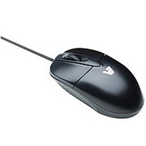 V7 M30P10-7N USB Optical Mouse - Wired - 3 Buttons - Black - $19.28