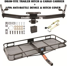 2002-2007 Saturn Vue Trailer Hitch + Cargo Basket Carrier + Silent Pin Lock Tow - $330.47