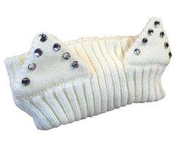 Cute Knitting Wool Headband Elastic Fashion Hair Band, Creamy WHITE