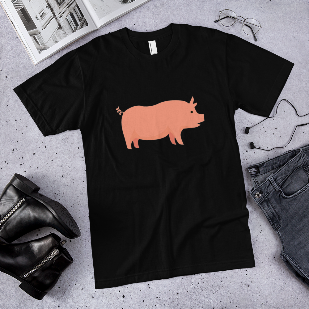 Pro pig t-shirt / pig T-Shirt / made in USA