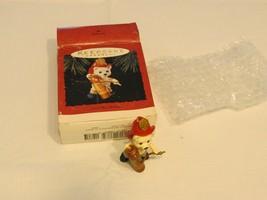 Fireman Fire fighter Red Hot RARE Christmas Hallmark Keepsake Ornament NOS - $16.03