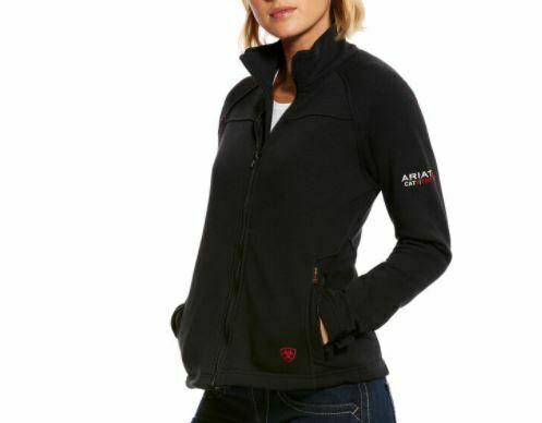 Ariat 10018157 Women Black Flame Resistant Polartec Platform Long Sleeves Jacket