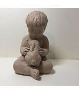 Miro Musulin Austin Prod Inc 72 Statuary Sculpture of Boy with Bunny 9 1... - $48.37
