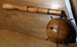 "Vintage medieval weapon german ""fléau d'arme"" morning star wood Danish d... - $190.00"