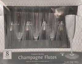 Champagne Flutes 5oz Premium Plastic (8 Pack) - Party Supplies - $5.00
