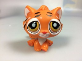 Littlest Pet Shop tiger cat LPS 905, toy tiger cat figure - $28.96