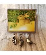 Rabbit in Winter Pin - $5.50