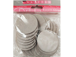 Bazzill Basics Chips, Chipboard Circles, 25 Count #BCC1.75