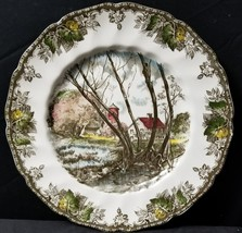"Johnson Brothers The Friendly Village Willow By Brook Dinner Plate 10.5"" - $32.71"