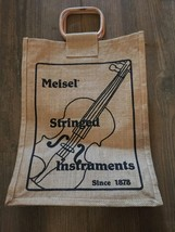 Vintage Meisel Stringed Instrument Burlap Bag - $9.47