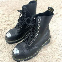 Size 6 Dr. Martens 8761 BXB Doc Boot Black 10-Eye Unisex Black Steel Toe Grunge - $224.67
