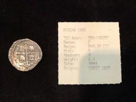 BOLIVIA 4 REALES SILVER ATOCHA 1622  DATED! SHIPWRECK FISHER PIRATE GOLD... - $1,950.00