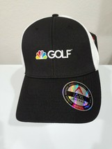 NBC GOLF TOUR Black and White Embroidered Logo Baseball Cap Hat Peacock ... - $19.95