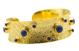 grand Multi Gemstone Gold Plated Multi Bangle Natural usual US gift - $21.77