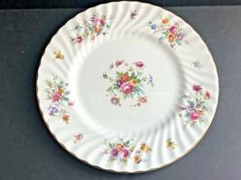 Minton Bone China Marlow Salad Plate, Floral Design, England - $19.79
