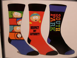 South Park  Crew Socks 3 Pair Pack Men's Shoe Size 8 to 12 - $11.49
