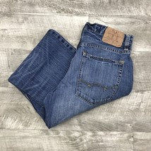AMERICAN EAGLE Straight Leg Loose Fit Classic Blue Jeans Men's Size 28 W... - $24.97