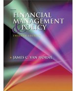 Financial Management and Policy (12th Edition) Van Horne, James C. - $19.95