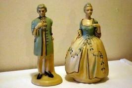 E. Calabria Italian Folk Art Hand Painted Man And Woman Victorian Figurines - $116.99
