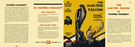 Hammett THE MALTESE FALCON facsimile dust jacket for first & early Books - $21.56
