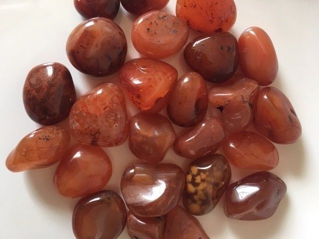 Primary image for Carnelian Stone Tumbled Healing Reiki Crystal Medium A Grade Bulk 1/2 LBS