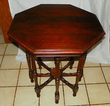 Solid Walnut Octagon Lamp Table / Parlor Table - $399.00