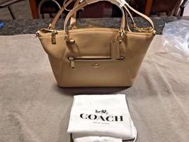 NWT COACH 34340 Pebbled PRAIRIE NUDE Leather Crossbody Handbag - $205.53