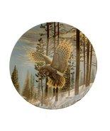 Bradford Exchange Spirits of The Sky Evening Glimmer Owl Plate GB192 - $29.30