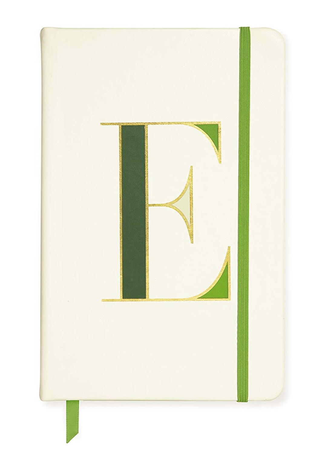 """Kate Spade New York Take Note Large Leatherette Initial Notebook, 8.25""""x 5.25"""" E"""