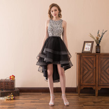 Women's Sequins Party Dress High Low Tulle Ruffles Homecoming Prom Dress... - $95.99