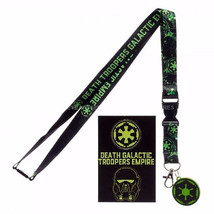 STAR WARS Rogue One Galactic Empire Logo Lanyard w/ Charm - $7.95