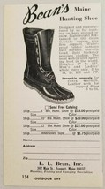 1970 Print Ad L.L. Bean's Maine Hunting Shoes Freeport,Maine - $9.78