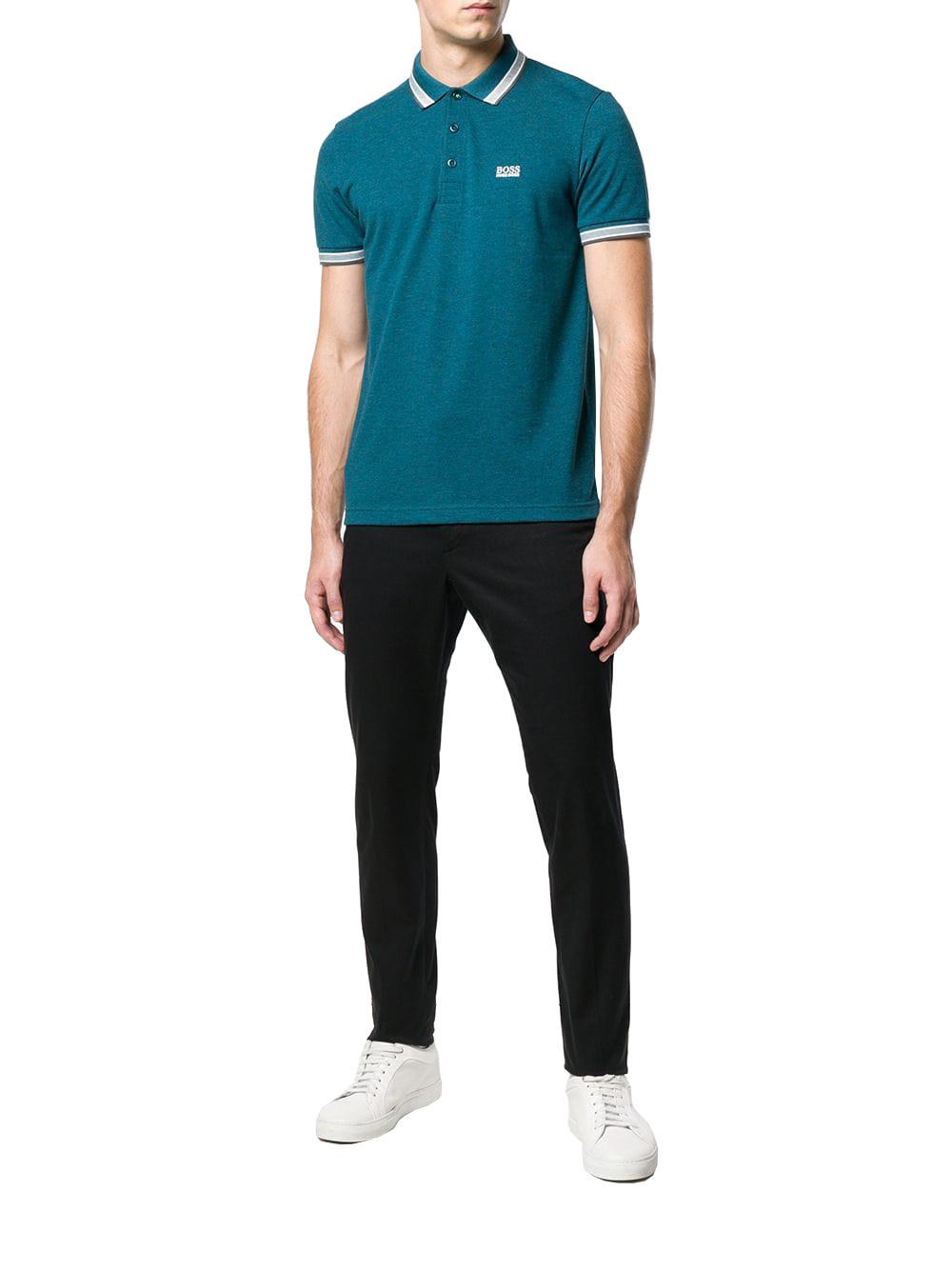 Hugo Boss Men's Premium Cotton Green Tag Sport Polo Shirt T-Shirt Paddy image 9