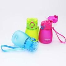 320ml Kids Pipette Water Bottle Cute With Rope Straw Leak Proof for Scho... - $246,47 MXN