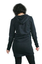 Cardboard Robot Womens Black Pink The Key to my Heart Elongated Hoodie Small NWT image 3