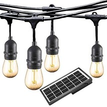 Ashialight Solar LED Outdoor String Lights with Hanging Sockets - Heavy ... - $78.65
