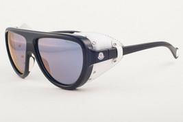 Moncler ML0089 01C Black White Leather / Gray Mirror Sunglasses ML 89 01... - $197.01
