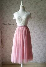 Dusty Rose High Waist Midi Tulle Skirt Dusty Rose Bridal Bridesmaid Tulle Skirts image 8