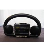 Vtg Street Beat Cassette Tape Player With Stereo Speaker Tote Mini Speakers - $19.92