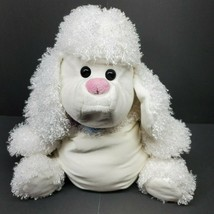 "Microbead Jay at Play Poodle White Dog Pillow Toy 18"" Collar Plush - $48.28"