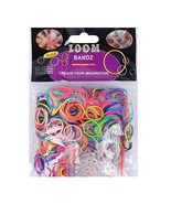600 Elastic Different Colors Rubber Bands 24 Clips 1 Hook DIY For Loom B... - $12.43