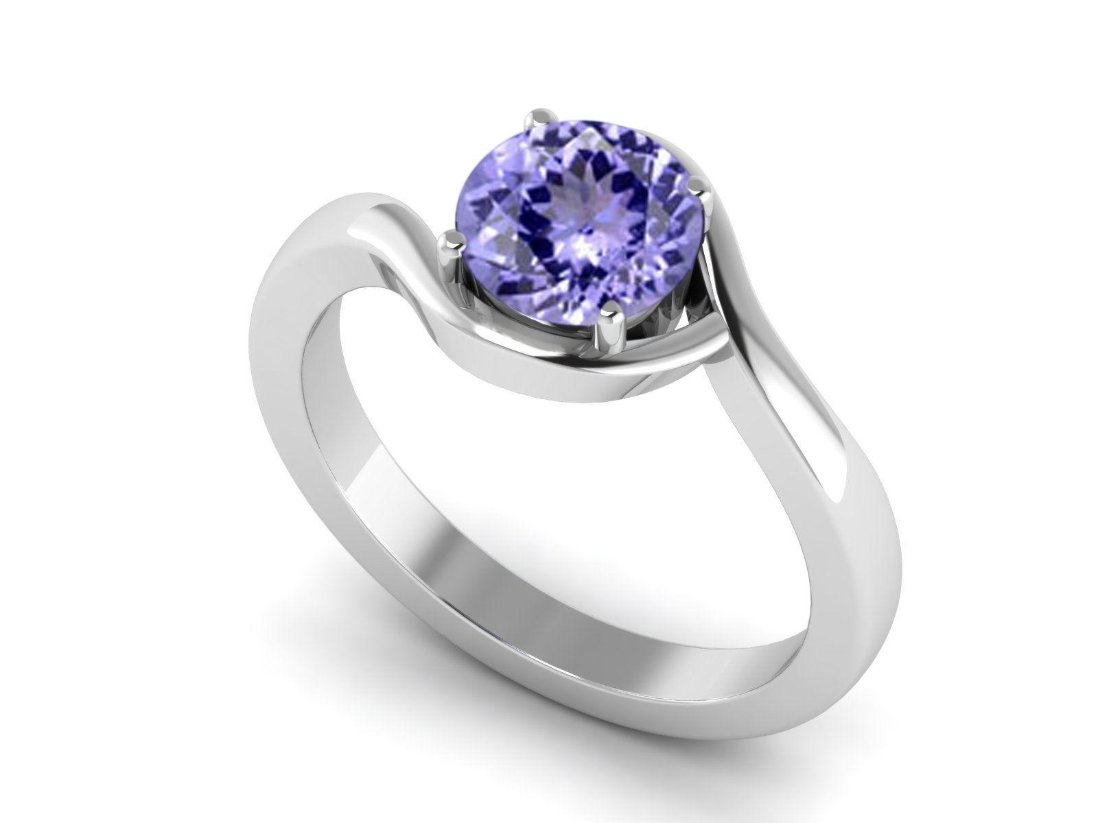 Classical Tanzanite Gemstone 925 Sterling Silver Ring US Size 7 SHRI1113