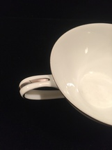 Noritake Colony pattern 5932 tea cup - Vintage 50s flat cup with platinum trim image 3