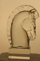 Designed 1937 by Sidney Waugh Steuben Treasured Solid Crystal Horse Head... - $359.97
