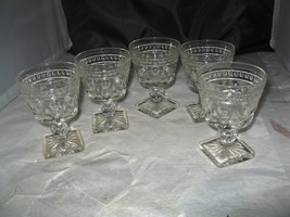 (5) Vintage Imperial Glass Cape Cod Clear Footed Low Sherbet Dish - $12.50