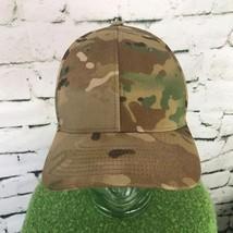 Mens Sz L-XL Hat Classic Camouflage Flexfit Fitted Pro Back Baseball Cap Flaw - $19.79